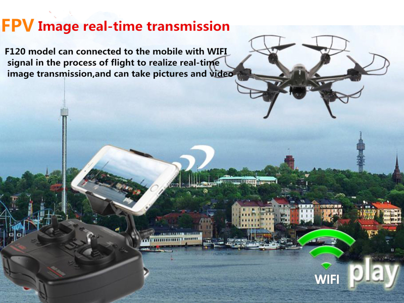 2016 Novelty design  fx120 6 Axis Wifi FPV real-time transmission 45.3am large RC Drone with HD Camera RC quadcopter toy