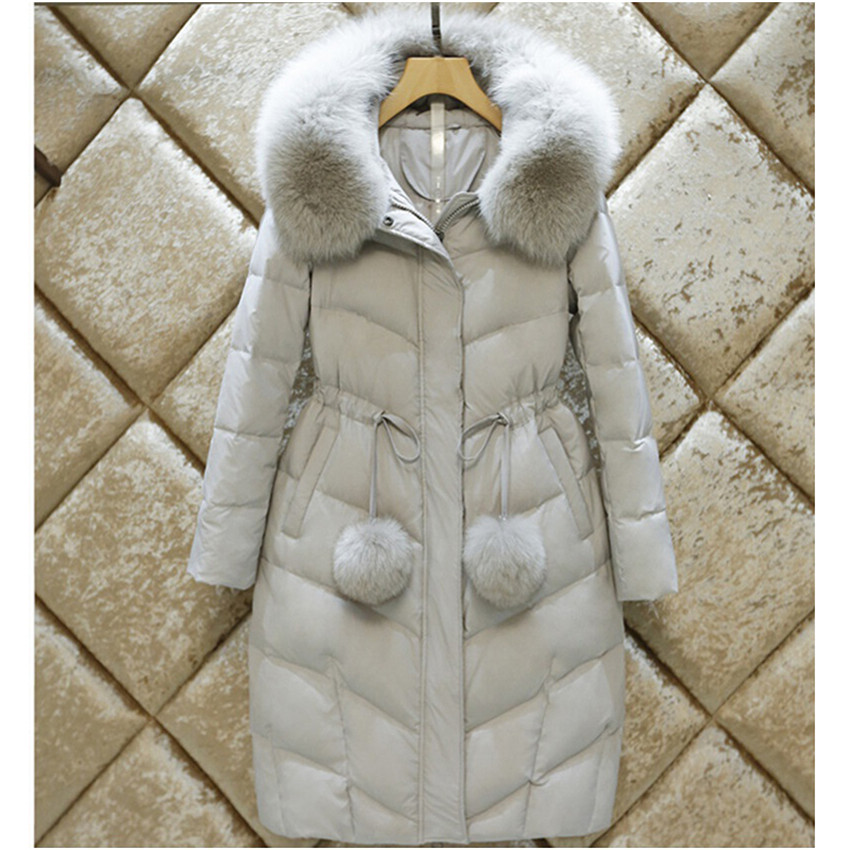 New Winter Women Long Thick Down Coat Slim Plus Size Down Jacket Lady White Duck Down Jacket Hooded Coats Female Jackets WZ110 australia new white goose down jacket female long thick knee thickening slim size winter coat