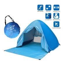Portable Beach Tent Anti-UV Automatic Pop Up Sun Protection Umbrella Camping BB55