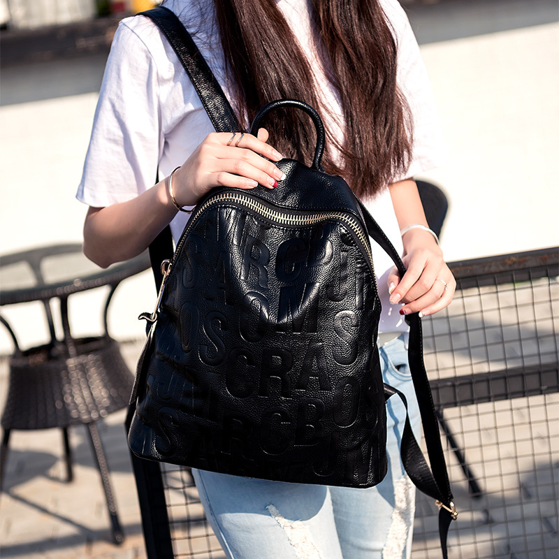 Casual Backpack Women Backpacks Real Leather School Bags For Girls Travel Shoulder Bag Female casual backpacks