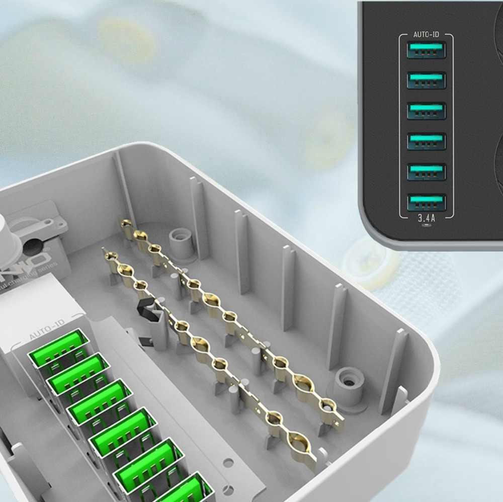 LDNIO الذكية الاتحاد الأوروبي قابس كهربائي تمديد المقبس الرصاص 3 التيار المتناوب قطاع الطاقة مع 6 USB مهايئ شاحن حماية الطفرة للهاتف