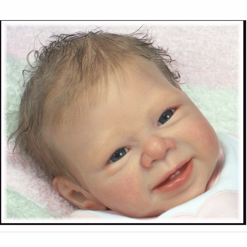 Reborn Doll Kit Realistic Dolls Parts Doll Accessories,21 Inch Reborn Babies Doll Kits Silicone Vinyl Head 3/4 Arms And Legs dolls and accessories