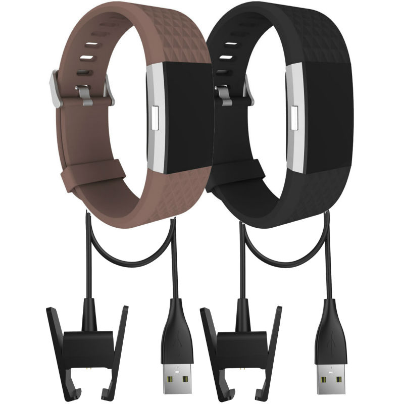 For Fitbit charge 2 straps and chargers,4pcs/lot 2pcs Accessory Bands and 2pcs Charging Cables for Fitbit Charge 2,Fits 6.1-8.3