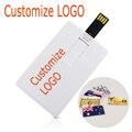 50 unids/lote LOGOTIPO personalizado de tarjetas de crédito Unidad Flash USB pen drive 128 M 256 M 512 M 1 GB 2 GB 4 GB 8 GB 16 GB 32 GB pendrive memory stick