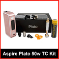 100% Aspire Plato TC Kit 50W 4.6ml Sub ohm atomizer Nautilus Coils with 18650 Battery vs Kanger Dripbox Nebox Starter Kit YY