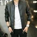 2016 New Arrival Leather Jackets Men's jacket Outwear Men's Coats Spring Autumn PU Jacket De Couro Coat Plus Size M-4XL 1207