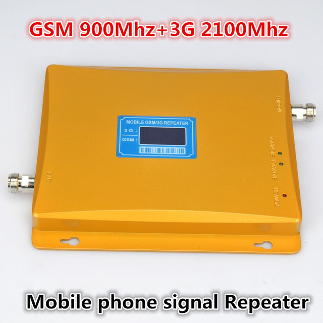 For Russia Model 980 Power 30 Dbm Gain 65dbi LCD Display Dual Bands GSM+3G Booster Repeater Dual Bands Booster WCDMA Repeater