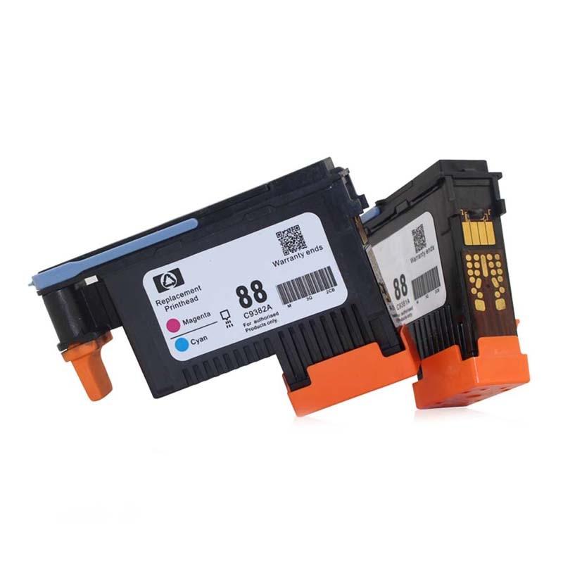 2 Pcs New Printhead Black/Yellow+Cyan/Mage For HP 88 C9382A PRO K550 K8600 K8500 K5300 K5400 L7380 QJY99 1set x new excellently print head for hp88 c9381a c9382a free shipping for hp 88 printhead k550 5300 5400