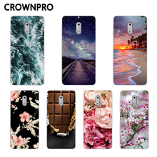 CROWNPRO TPU FOR Fundas Nokia 6 2017 Nokia6 Soft Case Phone FOR Nokia 6 TA-1021 Silicone Protective Case Flower Back Cover