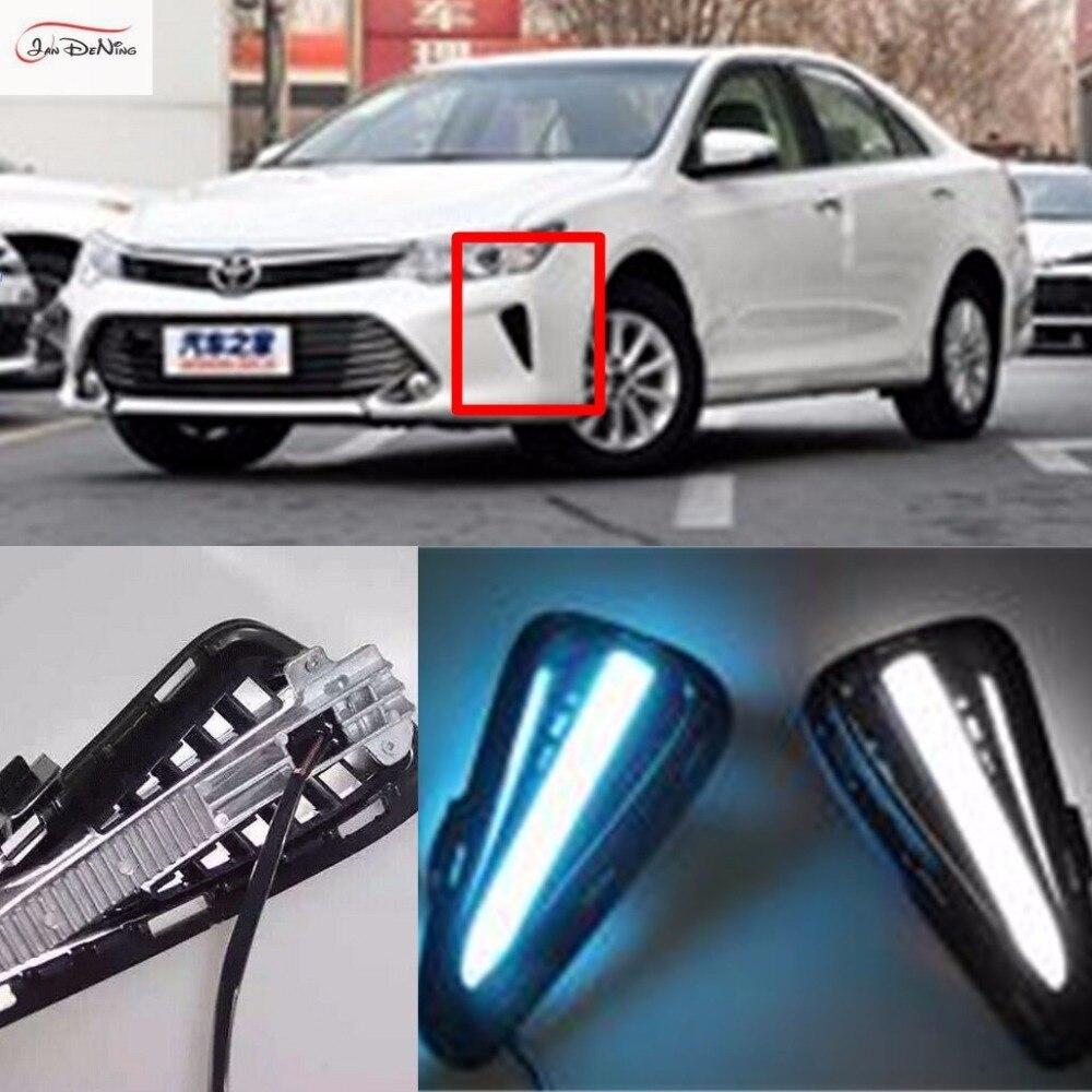 JanDeNing дневного света световодных вождения фары DRL замены Комплект для Тойота Камри 2015-2016