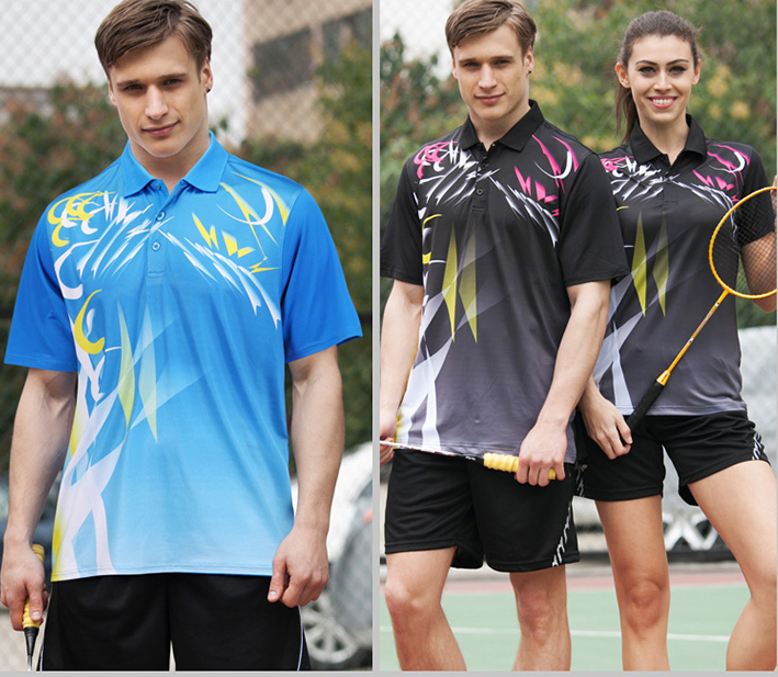 men quick dry badminton shirts man table tennis shirts male ping-pong ball tops  young men sports game tops adult sports shirts