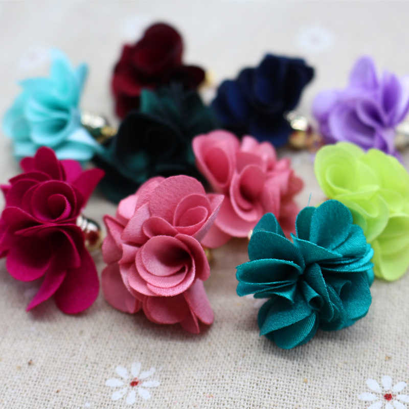 100pcs Mixed Color Flower Tassel 27mm Tassels For Jewelry Diy Cell Earring Necklace Charms Mobile Phone Straps Accessories