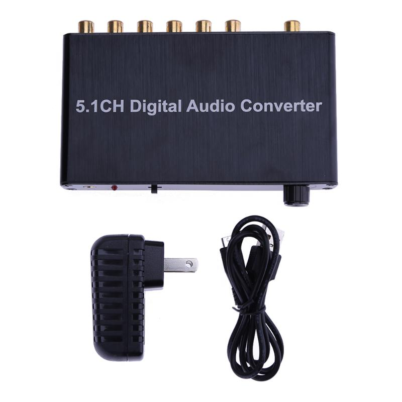 5.1 Decoder DTS /AC3 Dolby Coaxial SPDIF Input to 5.1 CH Digital Audio Converter for Network Player HDTV DVD with EU/US Plug