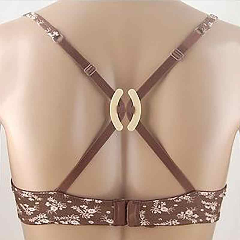 10 pcs/lot buckle bra clips Women's Push Up Cleavage Control Invisible Bras Strap Belt Clip Buckles cleavage Non-slip Buckle
