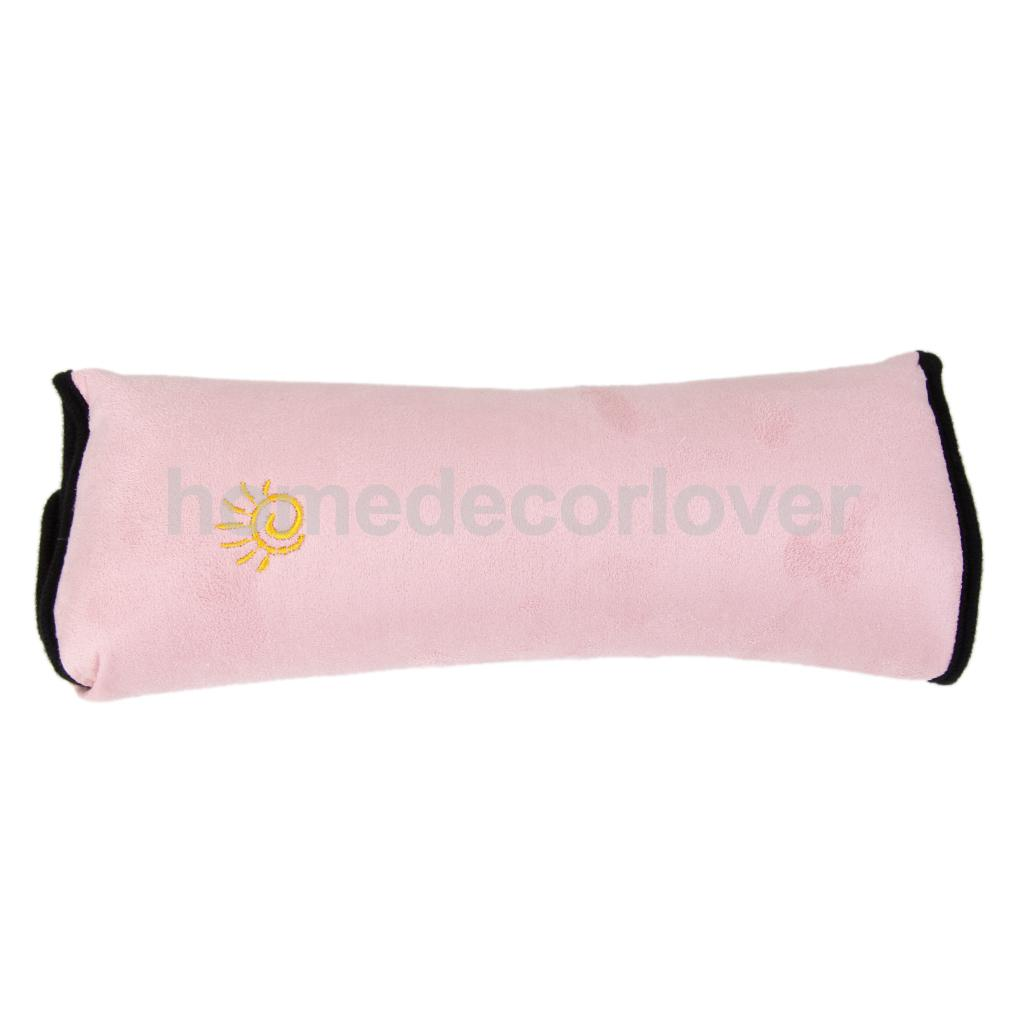 Kids Child Safety Car Seat Belt Pad Strap Shoulder Sleep Pillow Cushion Pink