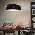 Minimalismo designer italiano modern led pingente luzes para sala de jantar bar loja de café preto branco lâmpada pingente pendurado luminárias
