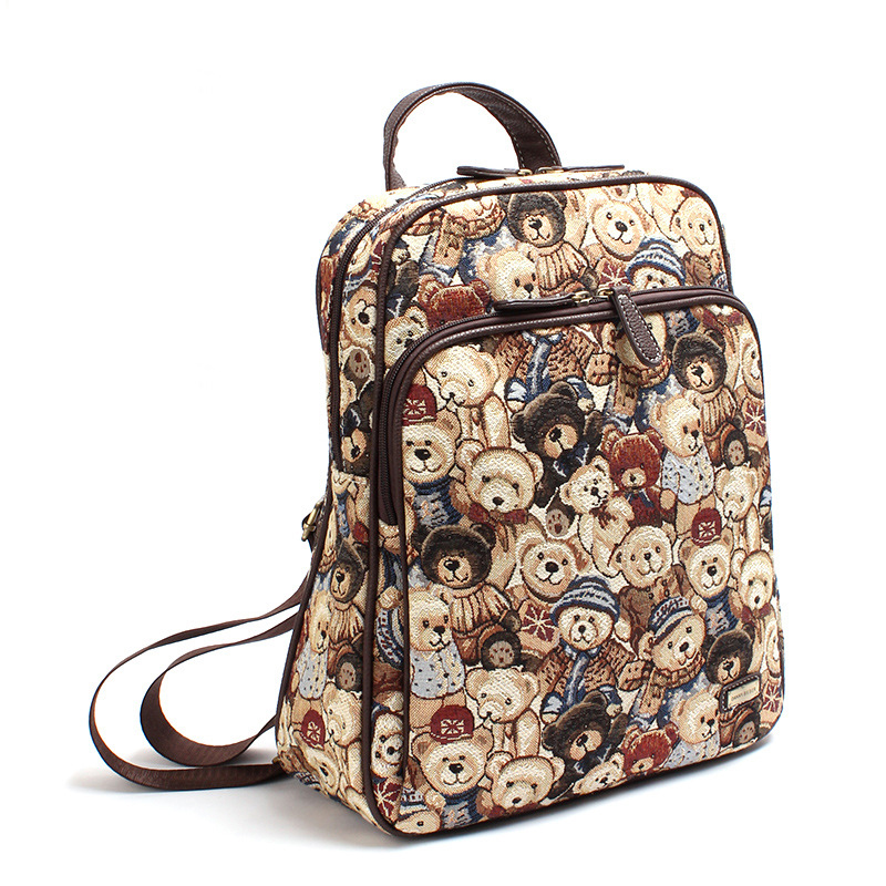 50 pieces  pack Wholesale retail Backpack female Korean version of the  college wind canvas zipper e7f044ad2b35a