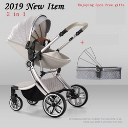 Bolina Бесплатная доставка Детские коляска прогулочная каретки Новинка 2018 года 2 в 1 коляски похожие на Aulon