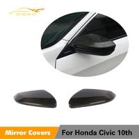 الرؤية الخلفية مرآة غطاء لهوندا سيفيك 10th 2016 2017 2018 الجانب مرآة قبعات الكربون الألياف|مرآة وأغطية|   -