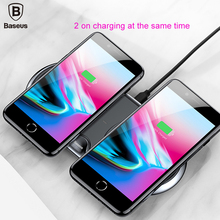 Baseus Qi 10W 5V/3A Dual Wireless charger fast charging QC 3.0 For Samsung Galaxy S9 mobile phone holder desktop