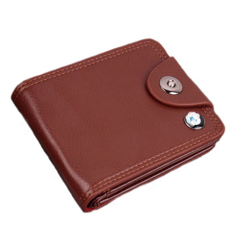 brand Wallet men leather men wallets purse short male clutch leather wallet mens money bag quality