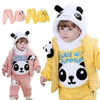 Anlencool 2019 Free shipping child winter cotton vest three piece Teddy Bear newborn baby clothes baby boy clothing