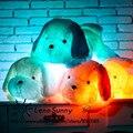 50 CM Luminoso Colorido Precioso perro LLEVÓ la Luz de la Felpa Almohada, Cojín Del Perro, los niños Juguetes De Navidad Para Perros