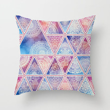 Fuwatacchi Geometric Print  Mandala Pillow Cover Floral Decor Sofa Chair Car Case Home Ramadan Decoration Cushion