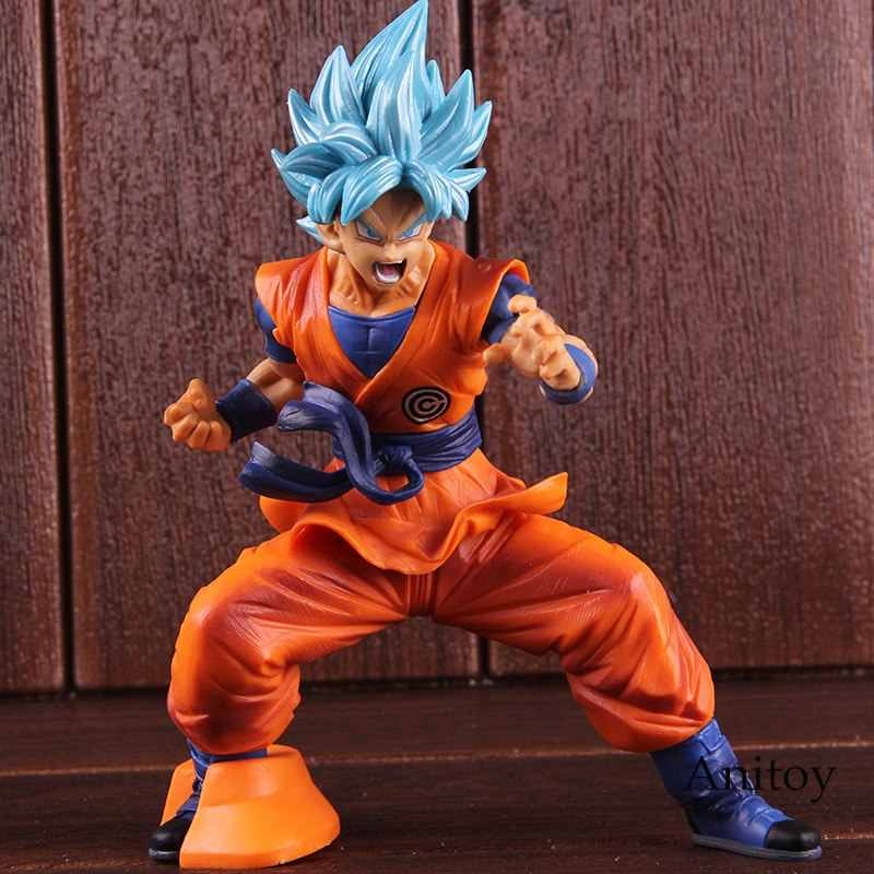SUPER Dragon Ball Son Goku Banpresto Chouzetsu Azul Goku Super Saiyan Figura Collectible Toy Modelo de Ação PVC