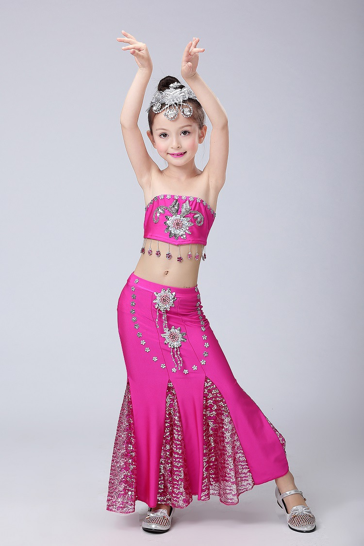 DAI Peacock danza popular nacional Pavo Real danza vestido ...