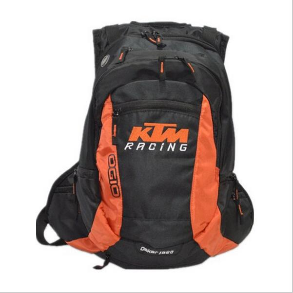 Free shipping KTM backpack leisure travel generation drag racing backpack multi purpose cross country race backpack