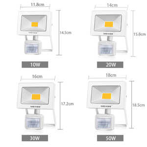 Image 2 - 10 واط 20 واط 30 واط 50 واط LED كشاف ضوء مع محس حركة AC110V 220 فولت LED الكاشف مقاوم للماء أضواء خارجية للحديقة
