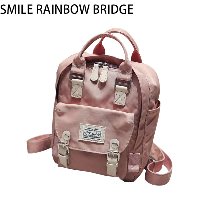 2018 Canvas Newydd Steilus Pell Backpack Merched Ffasiwn Backpack Ffasiwn Masgila M23 Masgila M23 Ysgol Backpack Corea