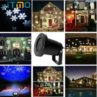 ITimo Moving Snow Laser Projector Lamp Waterproof New Year Christmas Holiday Lighting Garden Landscape Snowflake LED