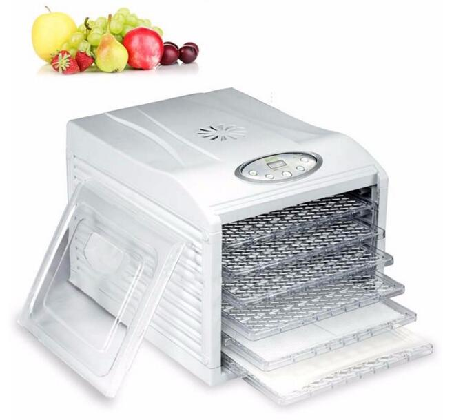 Electric Food Dehydrator with 6 Layers Steel Fruit Vegetable Drying Machine 220V Pet Food Dehydrator FD-980 fast food leisure fast food equipment stainless steel gas fryer 3l spanish churro maker machine