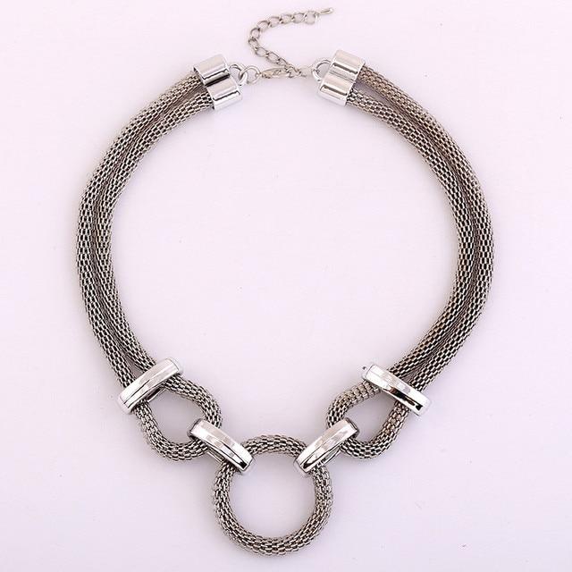 Lzhlq Геометрическая сетчатая цепочка чокер эффектное ожерелье