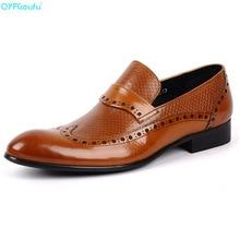 Brand 100% Genuine Leather Formal Brogue Shoes For Men Oxfords High Quality Handmade Designers Carved Dress Shoe недорого