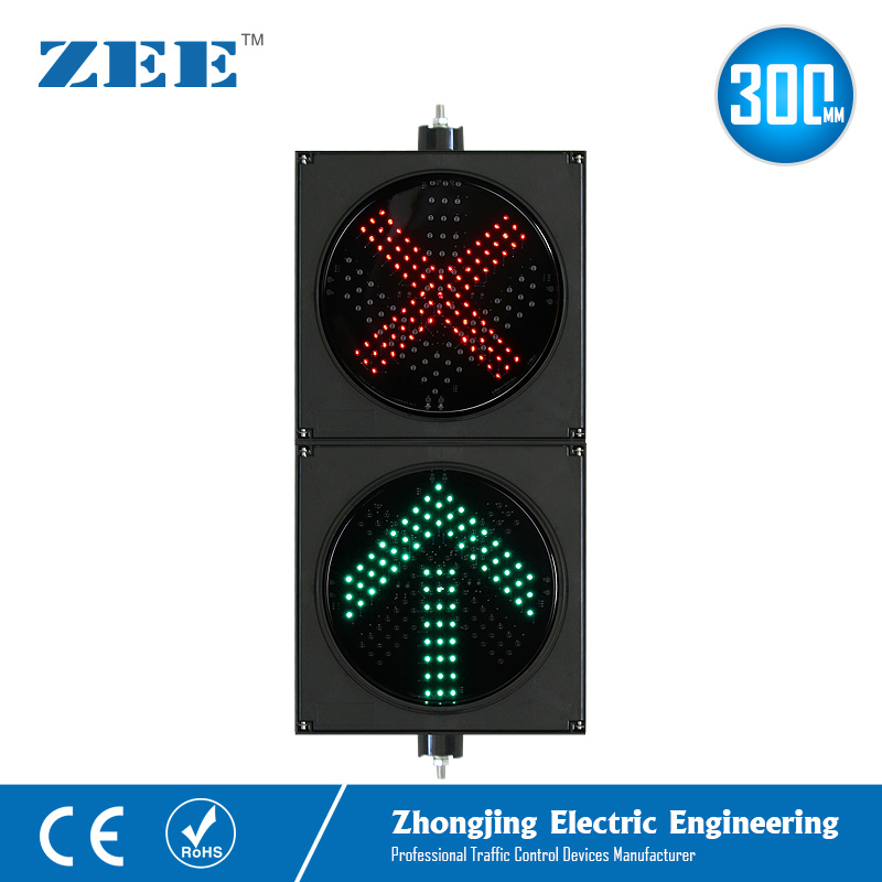 12 Inches 300mm 2 Aspects LED Traffic Lane Light Toll