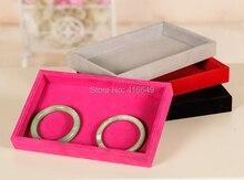 Ювелирные изделия дисплей организатор показать чехол держатель коробка розовый кольцо ёмкость аксессуары коробка