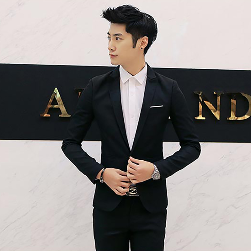 1Pcs Men's suit Solid Color Single Button Formal Suit Korean Fit Blazer