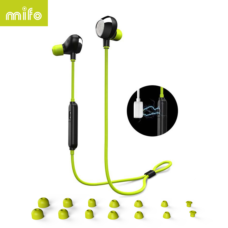 mifo i8 Sports Bluetooth Earphone Stereo Music Earpiece Wireless Headset Magnetic Suction HIFI Sound Headphone For Iphone Huawei fineblue f v2 bluetooth stereo headset bt4 0 voice prompt wireless music earphone earpiece cable with clip for oppo for iphone