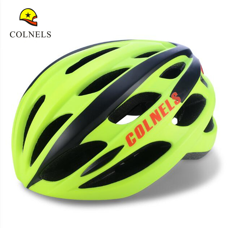 ФОТО Colnels C680 25 Vents Road Bike Helmet 8 Colors Safety Cycling Bicycle Helmet Unisex Adults Casco Ciclismo with led light
