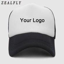 d057cf5163c Custom Logo Print Baseball Cap Couple DIY Blank Customized Hat Snapback  Trucker Caps Men Women Summer