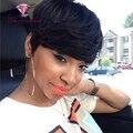 Топ 9А Короткие Волосы Парики Для Чернокожих Женщин Естественно 1B Цвет 100 Человеческих Волос Парики Для Афро-Американцев Cut Парики DHL Бесплатно доставка
