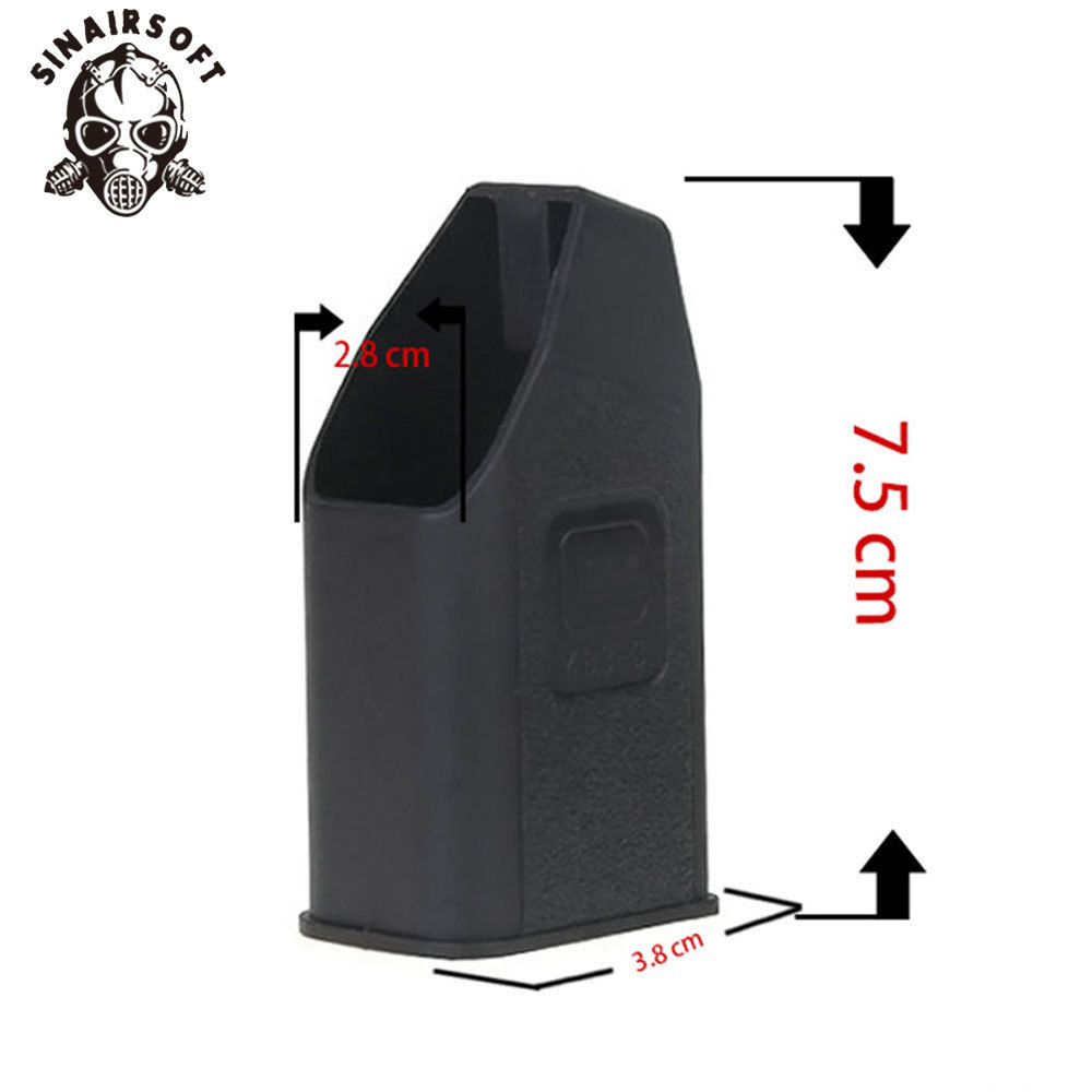 SINAIRSOFT Speed Loader Mag Speed Loader For 9mm/.40/.357/ .45 GAP Mags Clips Clip Black For Glock Magazine