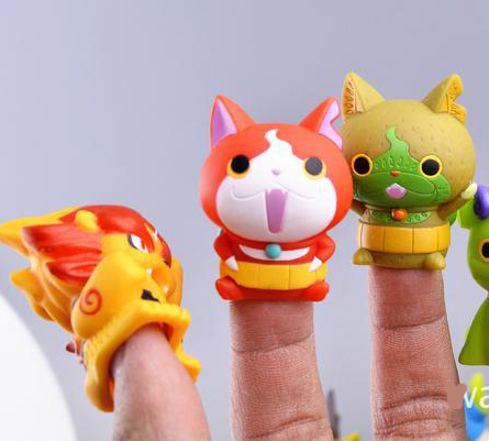 Free shipping 8pcs/lot 4.5 CM Yokai watch Finger toy figure toy Japan Anime Mini Action figures Best Gift Christmas gift image