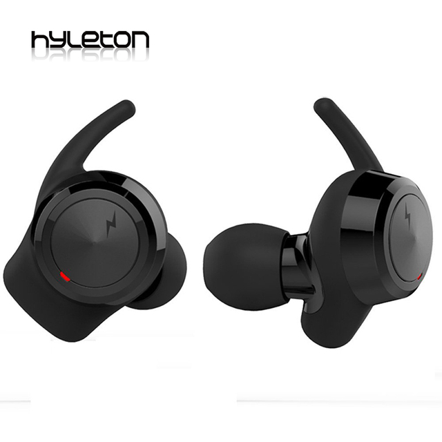 Hyleton Newest Bluetooth earphone car in-ear earbuds wireless mobile for iphone samsung android with 2 usb charge cable