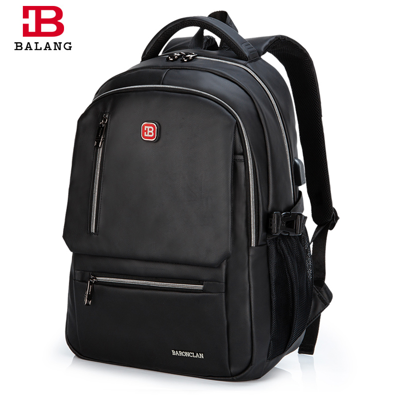 BALANGCasual Rucksack College Waterproof Oxford Notebook Backpacks Laptop Backpack for men 15.6 Inch School Bags Fashionable high quality england vintage style genuine leather men backpacks for college school backpacks for 14 inch laptop bags 9024