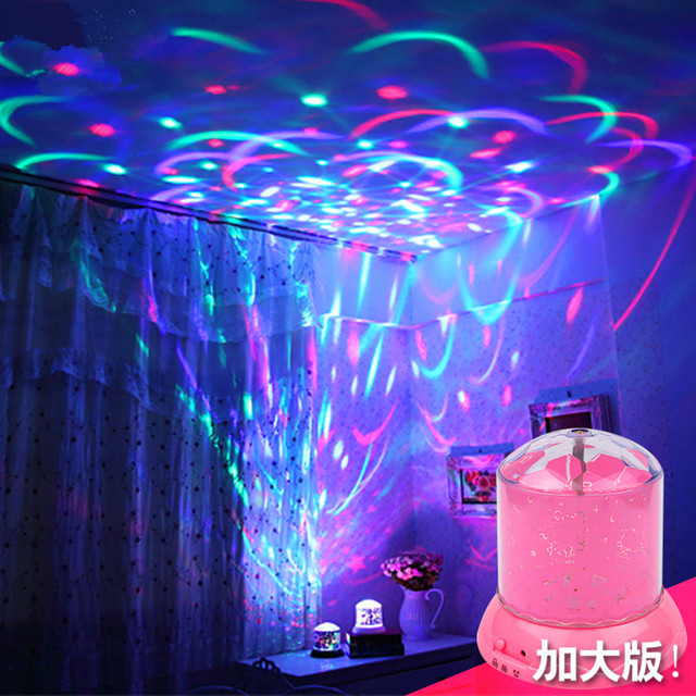 Creative rotation colorful sky projection lamp Children sleep light on special effects lighting for parties, led lights for parties, wall lighting for parties,
