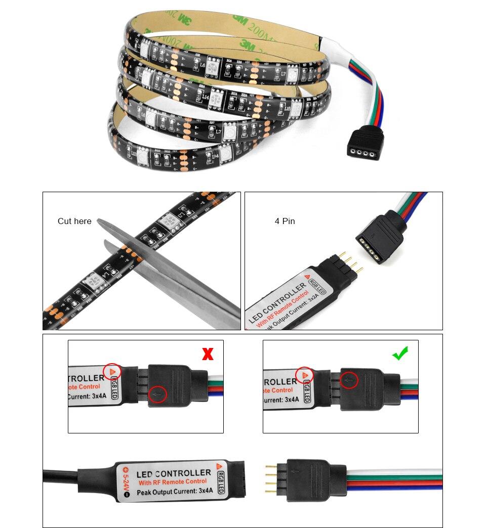 HTB1hE5qd0.LL1JjSZFEq6AVmXXab TV Backlight RGB LED Strip 5050 Waterproof 5V USB LED Tape String Bias lighting For HDTV Screen Desktop PC LCD Monitor Decor